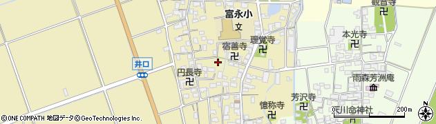 滋賀県長浜市高月町井口周辺の地図