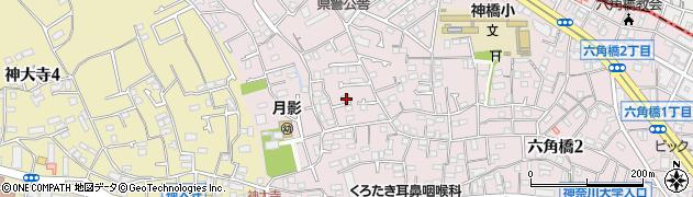 神奈川県横浜市神奈川区六角橋5丁目周辺の地図