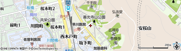 岐阜県関市西日吉町周辺の地図