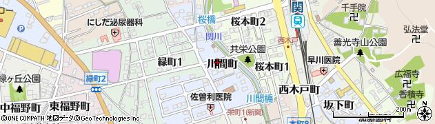 岐阜県関市川間町周辺の地図