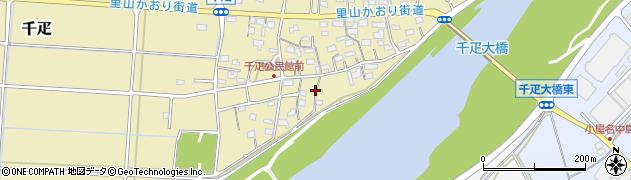 岐阜県関市千疋周辺の地図
