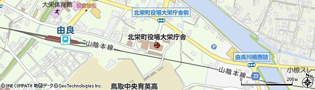 鳥取県東伯郡北栄町周辺の地図