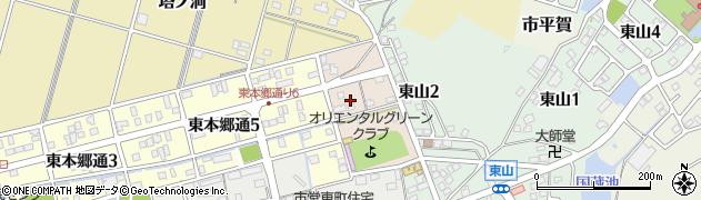 岐阜県関市東野町周辺の地図