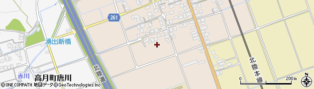滋賀県長浜市木之本町千田周辺の地図