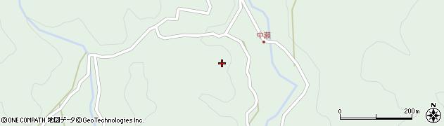 岐阜県揖斐川町(揖斐郡)春日美束(中瀬)周辺の地図
