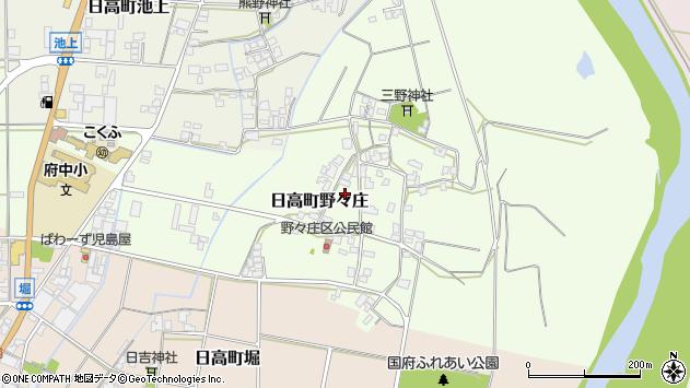 〒669-5327 兵庫県豊岡市日高町野々庄の地図