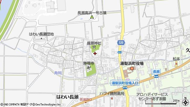 〒682-0722 鳥取県東伯郡湯梨浜町はわい長瀬の地図