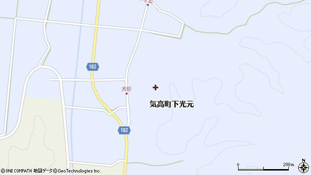 〒689-0213 鳥取県鳥取市気高町下光元の地図