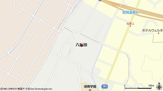 〒680-1443 鳥取県鳥取市六反田の地図