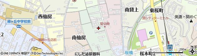岐阜県関市東仙房周辺の地図