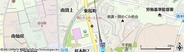 岐阜県関市東桜町周辺の地図