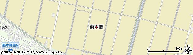 岐阜県関市東本郷周辺の地図