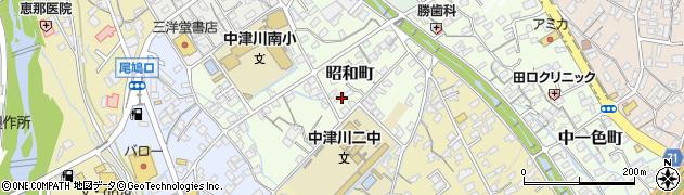 岐阜県中津川市昭和町周辺の地図
