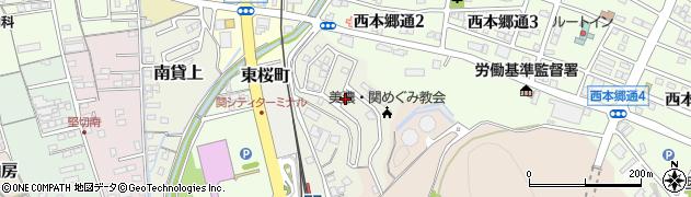 岐阜県関市安桜台周辺の地図