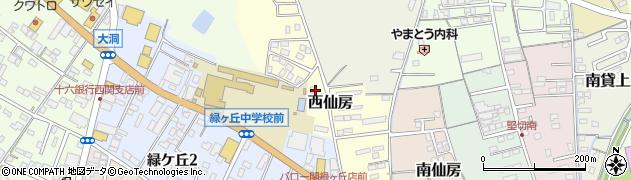 岐阜県関市西仙房周辺の地図