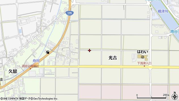 〒682-0713 鳥取県東伯郡湯梨浜町光吉の地図