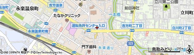鳥取県鳥取市吉方温泉周辺の地図