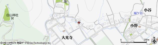 岐阜県揖斐川町(揖斐郡)大光寺周辺の地図