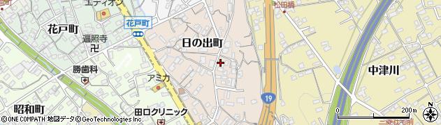岐阜県中津川市日の出町周辺の地図
