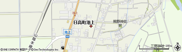 兵庫県豊岡市日高町池上周辺の地図