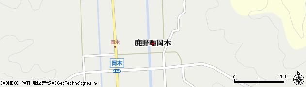 鳥取県鳥取市鹿野町岡木周辺の地図