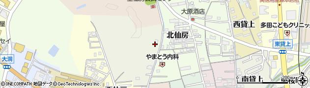 岐阜県関市向西仙房周辺の地図