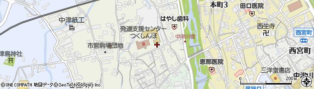 岐阜県中津川市柳町周辺の地図