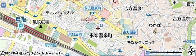 鳥取県鳥取市永楽温泉町周辺の地図