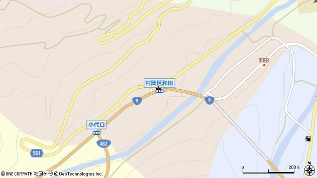 〒667-1367 兵庫県美方郡香美町村岡区和田の地図
