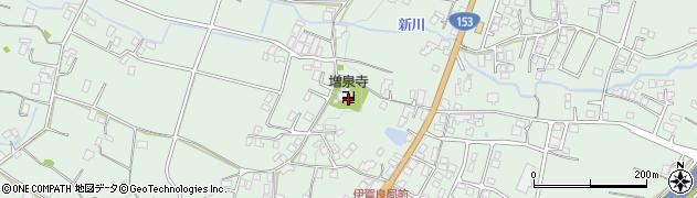 増泉寺周辺の地図