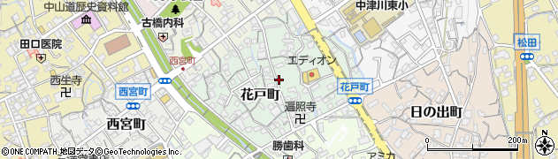 岐阜県中津川市花戸町周辺の地図