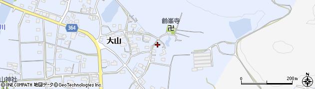 岐阜県加茂郡富加町大山周辺の地図