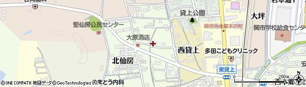 岐阜県関市竪切北周辺の地図