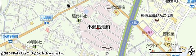 岐阜県関市小瀬長池町周辺の地図