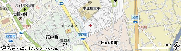 岐阜県中津川市東宮町周辺の地図