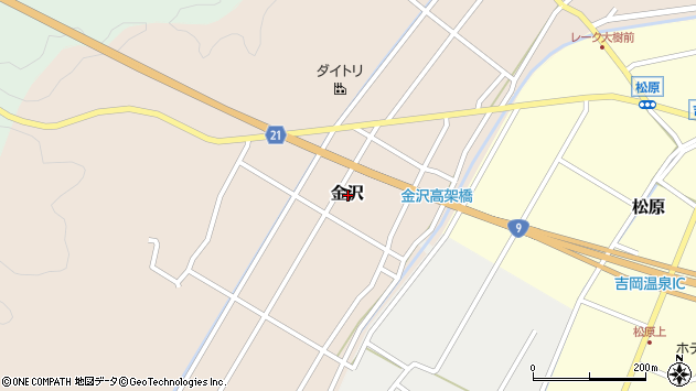 〒680-1439 鳥取県鳥取市金沢の地図