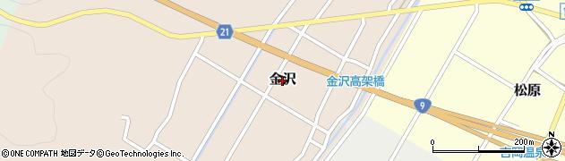 鳥取県鳥取市金沢周辺の地図