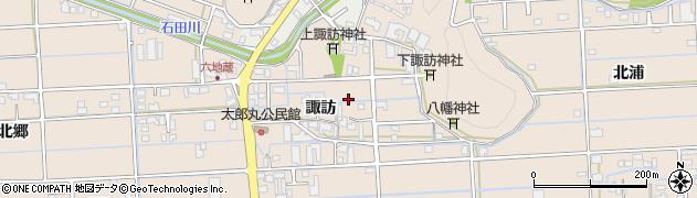 岐阜県岐阜市太郎丸(諏訪)周辺の地図