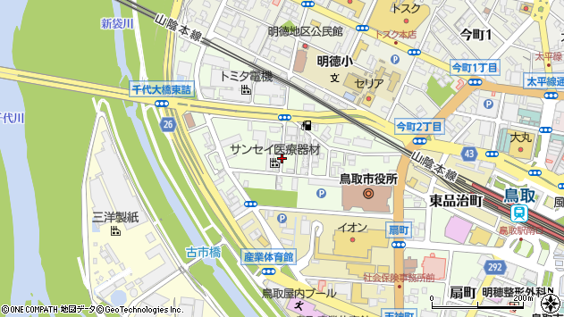 〒680-0823 鳥取県鳥取市幸町の地図