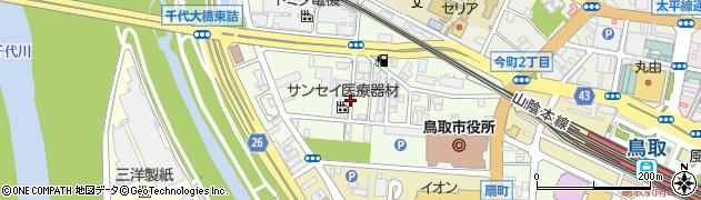 鳥取県鳥取市幸町周辺の地図