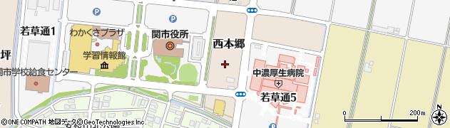 岐阜県関市西本郷周辺の地図
