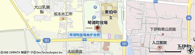鳥取県琴浦町(東伯郡)周辺の地図