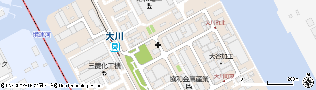 神奈川県川崎市川崎区大川町周辺の地図