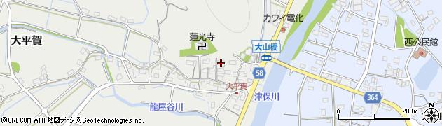 岐阜県加茂郡富加町大平賀周辺の地図