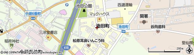 岐阜県関市池田町周辺の地図