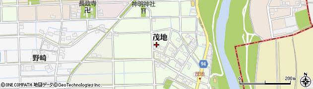 岐阜県岐阜市茂地周辺の地図