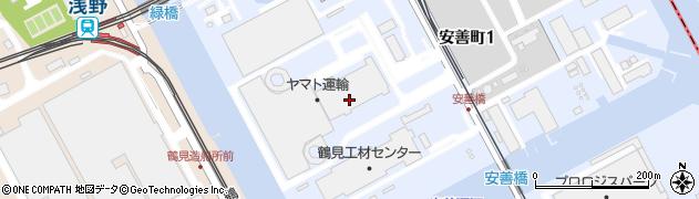 神奈川県横浜市鶴見区安善町1丁目周辺の地図