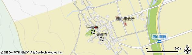 滋賀県長浜市木之本町西山周辺の地図