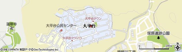 岐阜県関市大平台周辺の地図