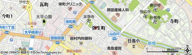 鳥取県鳥取市弥生町周辺の地図